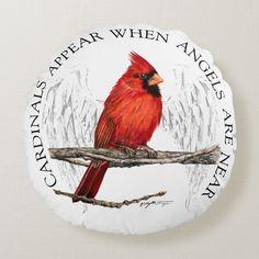 Shop Cardinals Appear When Angels Are Near Pillow created by HomeByDesign. Small Cardinal Tattoo, Cardinal Drawing, Cardinal Tattoos, Cardinal Birds, Cardinal Ornaments, Estrella Cardinal, Black Tattoos, Small Tattoos, Bird Meaning