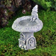 Fairy Garden Miniature Birdbath Gnome. SHOP now $4.99