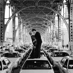 phytos:  Rodney Smith - Andrew  Edythe kissing on a sea of cabs, New York, 2008