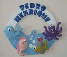 Enfeite de Porta Fundo do Mar | Joaninha Baby | F4223 - Elo7