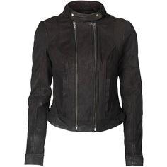 Vero Moda Eboni Short Leather Jacket Km ($205) via Polyvore