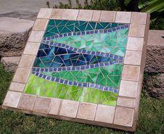 Mosaic Garden Paver by GardenDivaDeb, via Flickr