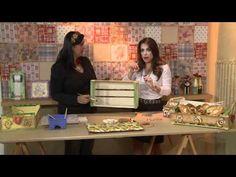 Vida Melhor - Artesanato: Cesta de pães em caixa de uva (Kelly Pires) - YouTube