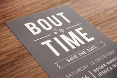 It's About Time Save the Date Cards | Save the Date | Postcard | Engagement Announcement | Modern Minimalist