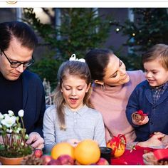 Swedish Crown Princess family released their Christmas Photos Prince Daniel, Princess Estelle, Crown Princess Victoria and Prince Oscar.