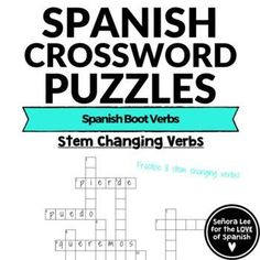 39 Best Spanish Crosswords | Crucigramas images in 2019