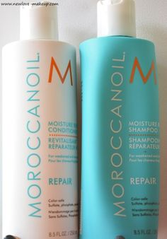 MoroccanOil Moisture Repair Shampoo, Conditioner Review, sulphate, phosphate and paraben free and Color Safe hair care range india