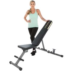 The Fitness Reality 1000 'Super Max' 800 lb Capacity Weight Bench is your key to the body you want. Make the most of your fitness regime with this home weight bench. Adjustable Weight Bench, Adjustable Weights, Strength Training Workouts, Weight Training, Cross Training, Step Workout, Weight Benches, Thing 1, Dumbbell Workout