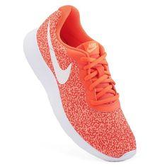 Nike Tanjun Women's Camo Print Athletic Shoes, Size: 5.5, Red