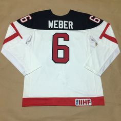 Canada Olympic 100th Anniversary Jersey 6 Shea Weber White
