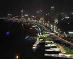 HASSELL | Projects - Shanghai Bund Waterfront Urban Design Competition 2009