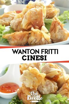 Wanton Fried, The Original Chinese Recipe- Fried Wantons are a typical Chinese dish. Together with the Spring Rolls and Shrimp Toasts they make up the starter fried par excellence. Here's how to prepare them with the original recipe. Chinese Chicken Recipes, Easy Chinese Recipes, Asian Recipes, Fresco, Shrimp Toast, Chicken Spring Rolls, Oriental, International Recipes, Original Recipe