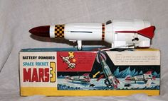Antique Tin Toy* T.N Nomura Japan Mars-3 Space Rocket NASA UFO Apollo TOMIYAMA #Nomura