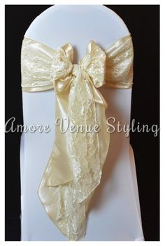 #wedding #sash #taffeta #ivory #lace