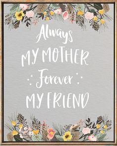 Mother's Day Print Happy Mother's Day Print Gifts #Mother_day