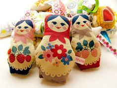 Russian Doll Matryoshka Lavender Bag