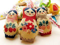 Russian Doll Matryoshka Lavender Bag