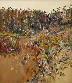 Fred Williams landscape with goose Abstract Landscape Painting, Landscape Art, Landscape Paintings, Landscapes, Contemporary Art Artists, Contemporary Landscape, Australian Painting, Australian Artists, Fred Williams