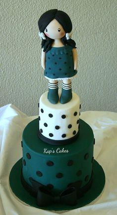 Gorjuss girl cake
