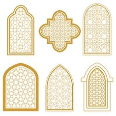 Find Set Islamic Ornamental Window Arabic Traditional stock images in HD and millions of other royalty-free stock photos, illustrations and vectors in the Shutterstock collection. Moroccan Art, Turkish Art, Art Marocain, Motifs Islamiques, Arabian Decor, Style Floral, Ramadan Crafts, Home Design Floor Plans, Islamic Patterns