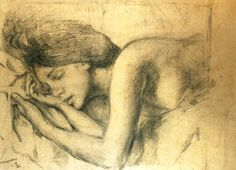 balthus - michelina asleep, 1975, pencil and charcoal on paper (milan, collection paola ghiringhelli).
