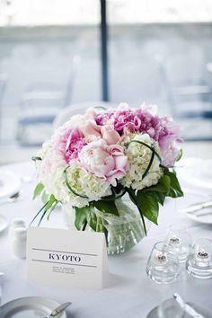 peonies, roses, hydrangeas