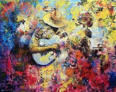 Tennessee - The blues scene in Memphis :: Painting by Twin