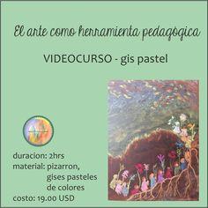 EL ARTE como herramienta pedagógica - gis pastel - video curso - Waldorf - pedagogía Waldorf - Waldorf en casa de Eescuelaenmicasa en Etsy