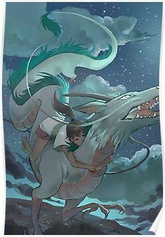 Haku and Chihiro Poster