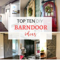 Here's some amazing DIY sliding barndoor ideas. These barndoors provide attractive and inexpensive privacy solutions with that famous farmhouse style. By Jennifer Allwood Small House Decorating, Decorating Tips, Diy Furniture Projects, Home Projects, Fixer Upper Decor, Diy Door, Farmhouse Chic, Home Remodeling, Diy Home Decor