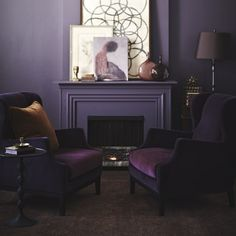 Layering Shades of Purple | Shadow, Benjamin Moore's 2017 Color of the Year | 4 Palette Ideas | MotleyDecor.com