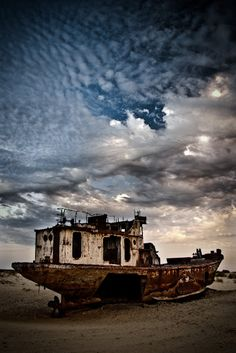Ship in the Aral Sea
