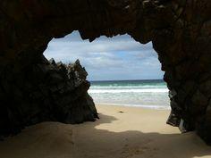 Nature's window, Cape Queen Elizabeth track, Bruny Island, Tasmanië, Australië, Tassie, Australia, Tasmania