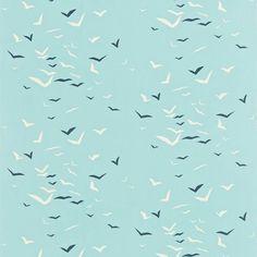 Seagull flock wallpaper