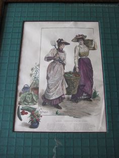 OLD ILLUSTRATED BY KATHERINE Y. CRAUFURD ETCHING PRINT BY P. NAUMANN ENGRAVER #Vintage