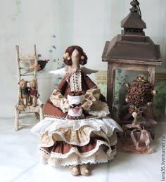Куклы Тильды ручной работы. Ярмарка Мастеров - ручная работа. Купить Кофейная фея. Handmade. Коричневый, кукла ручной работы