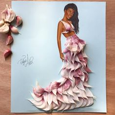 Outfit made out of garlic by Edgar Artis