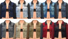 """sim-blob: """"""""Hello! I have something special for you guys today! As a giant thank you for 4,000 followers (Seriously!? Holy moly you guys!?) I made these accessory denim jackets! These wouldn't even..."""