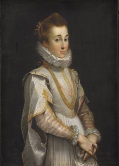 Portrait of a Young Lady by Federico Barocci, ca 1600, Statens Museum for Kunst