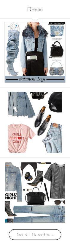"""Denim"" by bine-jan ❤ liked on Polyvore featuring Dolce&Gabbana, Margot McKinney, Prada, Y/Project, Fendi, Valentino, Frances Valentine, Balenciaga, GRLFRND and Helmut Lang"