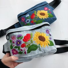 Excited to share the latest addition to my shop: Fanny pack for women Custom fanny pack Personalized fanny pack Sunflower Waist bagHand embroidered hip bag Festival bag Travel bag Belt Pouch, Waist Pouch, Embroidered Bag, Hip Bag, Denim Bag, Handmade Bags, Cotton Tote Bags, Fanny Pack, Diaper Bags