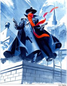 The Shadow by Mike Mayhew. One of the greatest Shadow pieces ever.