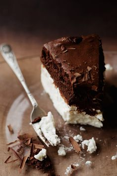inspiration cottage cheese under the chocolate cake