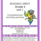 This bundle includes three of my products:  Reading Street Comprehension Unit 1 Grade 3, Reading Street Spelling Unit 1 Grade 3, and Reading Street...