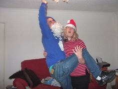 me & friend at Christmas changing a light bulb *giggles*  see my weekly Giveaways & Antics on https://www.youtube.com/user/halloweenpropsuk?sub_confirmation=1