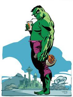 #Hulk #Fan #Art. (Hulk by Tim Sale) By: Whoisrico. (THE * 5 * STÅR * ÅWARD * OF: * AW YEAH, IT'S MAJOR ÅWESOMENESS!!!™)