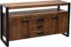 Livingfurn Strong dressoir 145 | Vergelijkprijs.nl Sideboard, Cabinet, Storage, Furniture, Home Decor, Products, Natural Colors, Homes, Black