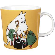 Iittala Moomin Mug - Moomin Mamma (311.050 IDR) ❤ liked on Polyvore featuring home, kitchen & dining, drinkware, fillers, mugs, cup, fillers - yellow, food, yellow and motivational cups