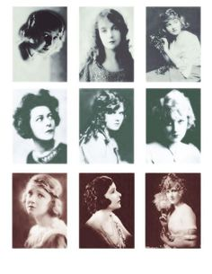 Screen Beauties #2 - Digital Collage Sheet - FREE TO USE by fidgetrainbowtree, via Flickr
