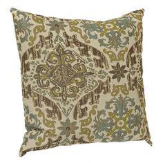 Aqua and Brown Vicenza Pillow   Kirklands